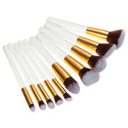 10 Pcs Makeup Brush Set Fundação Blush Cosmetic Brushes Tool