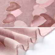 Womens Vogue Simple Cotton Linen Breathable Heart Warm Scarf 180*90cm Oversize Shawl