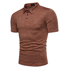 Stilvolles Herren Sommer Jacquard Slim Fit Business Freizeit Golf Shirt