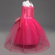 Filles princesse cosplay costume robe de soirée halloween vêtements pour 4y-13y