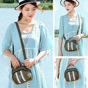 National Style Canvas Three-Layer Shoulder Bag Shell Bag For Women
