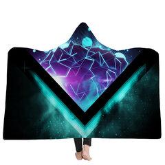 150x200 سنتيمتر بطانية مقنع 3d الملونة المطبوعة الدافئة لبس أفخم حصيرة سميكة بطانية ناعمة بطانية