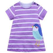 Motif animal Stripe bébé Toddler Girl Kids Casual Summer Robes Vêtements pour 0Y-6Y