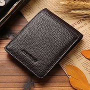 Retro Genuine Leather Wallet Capacity Card Holder Practical Purse