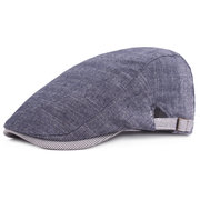 Men's Vintage Cotton Beret Cap Casual Sunshade Newsboy Forward Adjustable Hats