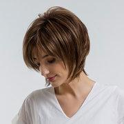 Cabelo artificial da fibra química de alta qualidade reta sintética curto das perucas sintéticas de 27 cm