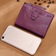 Women Genuine Leather Durable Business Wallet Portable Purse