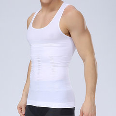 Mens Sexy High Elastic Fat Burning Body Sculpting Waist Tummy Tuck Skinny Fit Sport Tank Tops