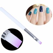 DANCINGNAIL 1Pcs UV Gel Flat Nail Art Brush DIY Pintura Desenho Pen Manicure Tool