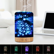 Star Sky Fireworks 3D Glass Aromatherapy Diffuser Cool Mist Humidifier Color Changing Light Night