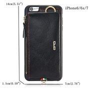 Sac de Téléphone Décontracté en Cuir à iPhone7/7Plus/6/6s/6Plus/6sPlus Porte-cartes pour Homme