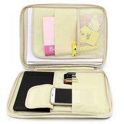 Women Large-capacity Leaves A4 File Bag Conference Briefcase Storage Bag For Ipad