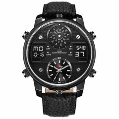 KAT-WACH Big Dial Sport Watches Dual Display Military Digital Watch Multiple Time Zone Mens Watches