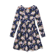 Flower Girls Dresses Kids Long Sleeve Casual Dress For 8Y-15Y