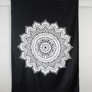 210X148cm böhmische Tagesdecke indische ethnische Mandala Wand hängende Hippie Tapisserie Dorm Dekor