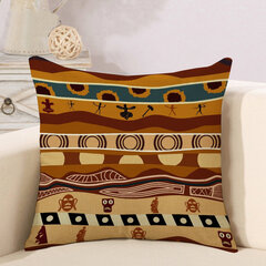 African National Style Stripe Cotton Linen Cushion Cover Sofa Car Decor Pillowcase