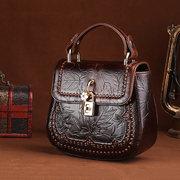 Brenice Schulterriemen aus Rindsleder Taschen Vintage Geprägter Crossbody Taschen