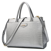 Kadell Metal Crocodile Large Capacity Pattern Ladies Handbag