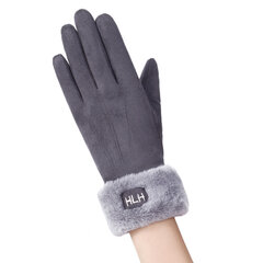 Women Winter Warm Suede Guanti Solid Solid Touch Screen antivento Full-finger Guanti