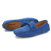 Men Large Size Suede Flat Slip Ons Loafers