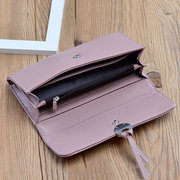 Women Casual Stylish PU Leather Long Wallet Purse
