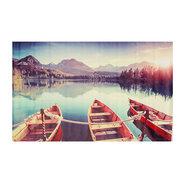 الفن اللوحة بحيرة قارب السفينة الحديثة صورة النفط قماش جدار الفن فرملس المعيشة غرفة نوم المنزل دي