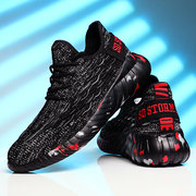 Men Knitted Fabric Breathable Large Size Sport Outdoor Casual Running Sneakers