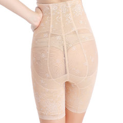 Plus Size Front Zipper High Waist Belly Control Lace Shapewear