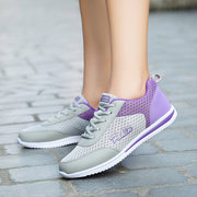 Mesh Color Blocking Breathable Lace Up Sport Trainers