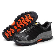 Large Size Men Knitted Fabric Steel Toe Non-slip Wearable Safety Shoes
