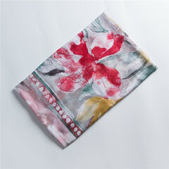 MEANBEAUTY 180cm*80cm Cotton Scarf Floral Printing Shawl Summer Thin Breathable Scarf