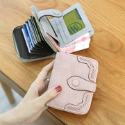 Women PU Leather Hollow Design Vintage Wallet Retro Purse