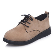 The New Season Small Leather Shoes Female Students With Wild Big Size 41-44 Single Shoes Women.