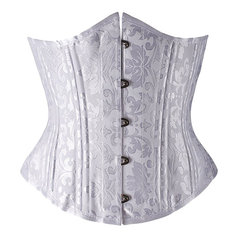 Women Court Shapers Slimming Body Corset 26 Double Steel Boned Cincher Bustiers