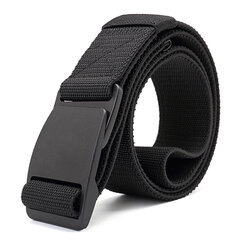 Men Plate Buckle Canvas Belt Prevent Aller Sport Durable Pants Strip Outdoor Wild Casual Belt
