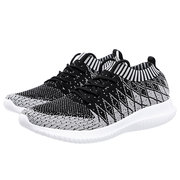 Men Breathable Knitted Fabric Lace Up Sport Casual Running Sneakers