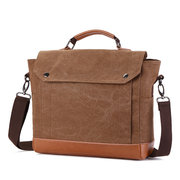Pochette Casual Business Canvas Borsa Crossbody Borsa per uomo