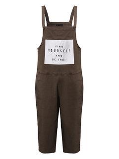 Loose Strap Jumpsuit Overalls Harem Pants Capri Pants For Women