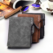 PU Casual Multi-function 10 Card Slot Waterproof Wallet Business Short Coin Wallet For Men