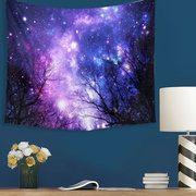 Galaxy Forest Mandala Tapisserie Wand Hanging Throw Dorm Bettdecke Yoga Mat Dekor