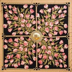 Damen Warm Print Colorful Ethnic Vintage Vogue Kunstseide Soft Quadratischer Schal Schal