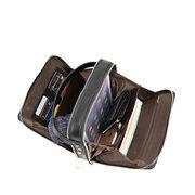 Неподдельная кожаная сумка большой емкости для делового портфеля iPad для мужчин