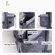Multifunctional Breathable Mesh Pet Travel Carrier Double Shoulder Backpack