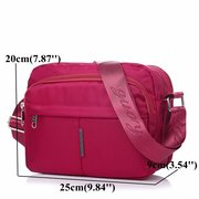 Women Nylon Casual Lightweight Multi-pocket Crossbody Bag Shoulder Bags
