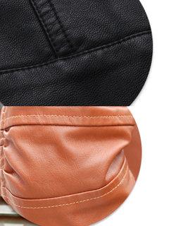 Одежда из искусственной кожи Тонкий мотоцикл Куртка Верхняя одежда