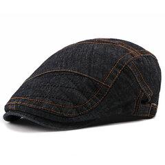 Hommes Coton Lavé Thin Beret Cap Outdoor Loisirs Chaud Cowboy Chapeau De Soleil De Mode