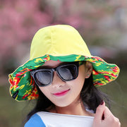 Women Retro Foldable Floral Print Double-sided Bucket Hat Casual Anti-UV Visor Beach Fisherman Hat