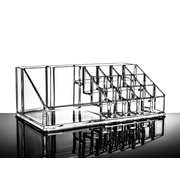 Clear Cosmetics Organizer Make Up Storage Jóias Case Lipstick Liner Brush Holder Box