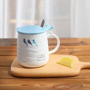 Ceramic Mug Creative Ocean Whale Drinking Cup Couple Gift