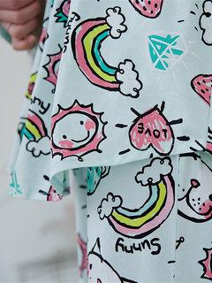 Gli indumenti da notte in cotone Plus si adattano a pigiami sciolti con stampa di cartoni animati per gatti